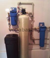Система комплексной очистки по обезжелезиванию и умягчению воды 10x54 с ручным блоком управления