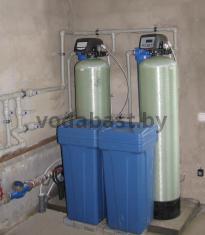 Cистема умягчения воды для частной гостиницы с блоком управления дуплекс Autotrol 255/764