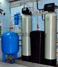Система очистки воды Ecomix и угольная станция с блоками Clack серии WS